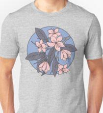 Sakura Branch Pattern - Rose Quartz + Serenity Unisex T-Shirt