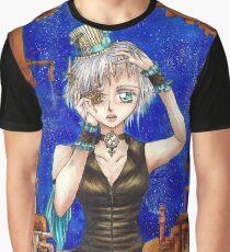 Clockwork Anime Girl Graphic T-Shirt