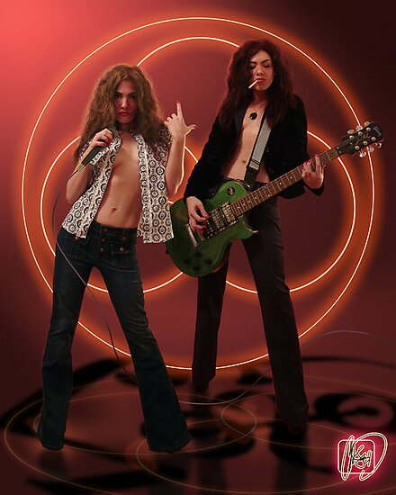 Self Portrait as Robert Plant and Jimmy Page by caseycastille