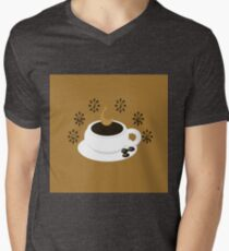 A coffee cup with coffee beans and text Coffee T-Shirt