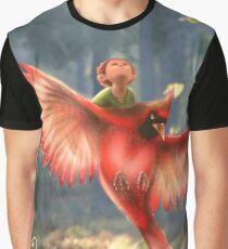 Bird RED Graphic T-Shirt