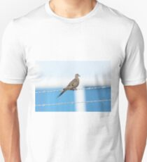 Mourning Dove on the Wire Unisex T-Shirt