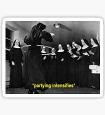 Nun Hula Hoop Party  Sticker