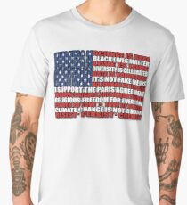 Political Protest American Flag Men's Premium T-Shirt