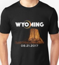 Wyoming Total Solar Eclipse 2017 T-Shirt T-Shirt