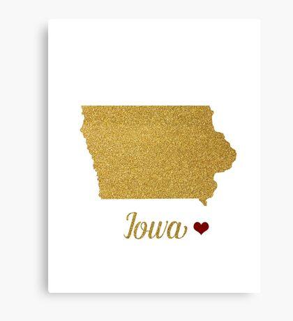 Iowa map Canvas Print