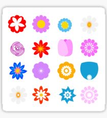 Colored flowers vector illustration for logo, icon or design element Sticker