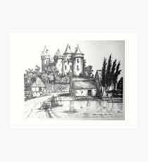 Chateau de Combourg France 1016ad Art Print