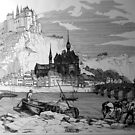Dinant Citadel, Belgium.1860 by John W. Cullen