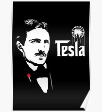 Nikola Tesla Godfather Theme Poster