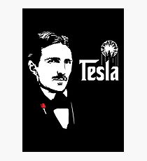 Nikola Tesla Godfather Theme Photographic Print