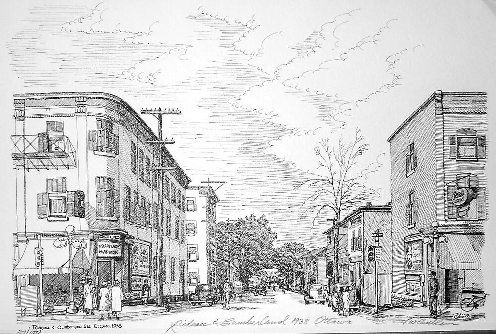 Rideau and Cumberland,Ottawa 1938 by John W. Cullen