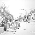 Winter Locks, Ottawa 1971 by John W. Cullen