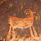 Desert Ram Petroglyph near Moab by Ryan Houston