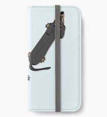 Walked on by a Dachshund iPhone Wallet
