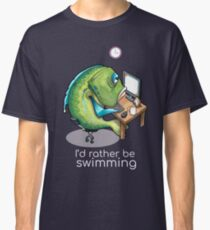 Rather be swimming Classic T-Shirt