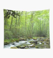 Spring Forest Stream Wall Tapestry