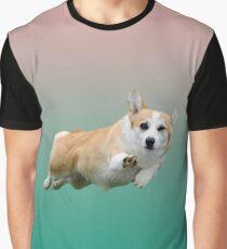 Corgi Gradient Graphic T-Shirt