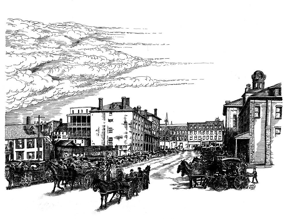 Farmer's Market, Brockville 1910 by John W. Cullen