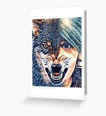 Your inner wolf  Greeting Card