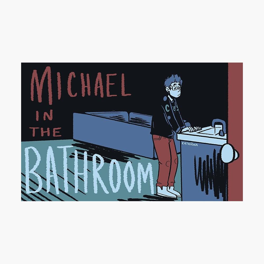 Michael im Badezimmer Fotodruck