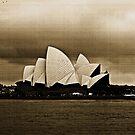 Sydney Opera House im Sepia von Evita