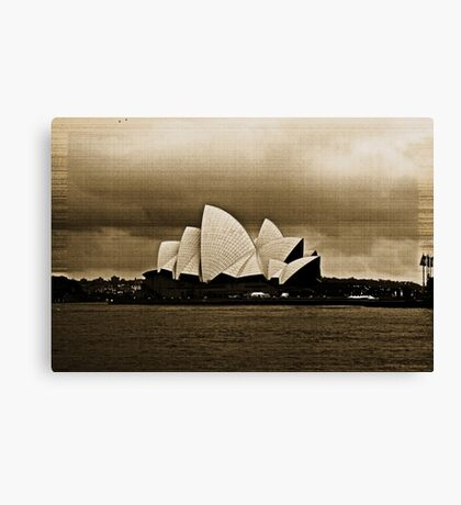 Sydney Opera House in Sepia Canvas Print