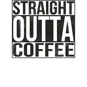 Straight Outta Coffee Tee by AlphaHannibal