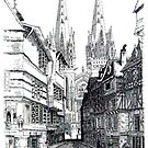 Quimper Cathedral France 1457ad by John W. Cullen