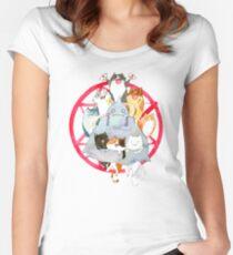 Kätzchen Alchemie Tailliertes Rundhals-Shirt