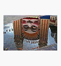 Luna Park Reflection Photographic Print