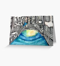 Venice Illustration and Watercolor Greeting Card