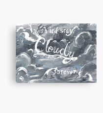 """""""I Wish It'd Stay Cloudy Forever"""" Original Painting Canvas Print"""