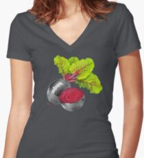 let the beat drop Women's Fitted V-Neck T-Shirt