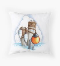 seaside graphic1 Throw Pillow
