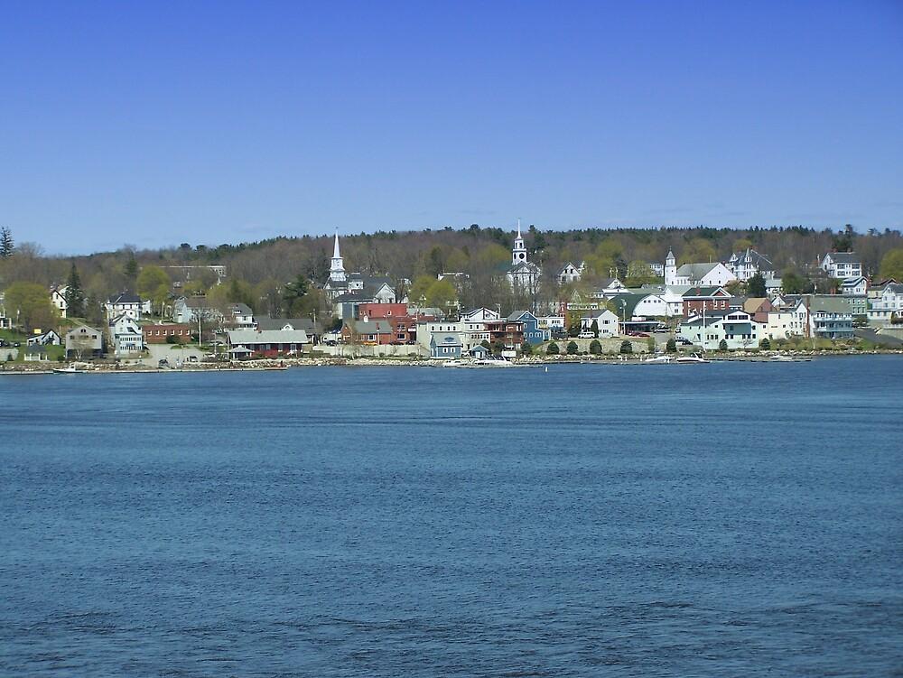 Seaside Town by Gene Cyr