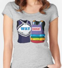 WayHaught Wynonna Earp Rainbow Vests Women's Fitted Scoop T-Shirt