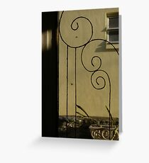 Backdoor Greeting Card