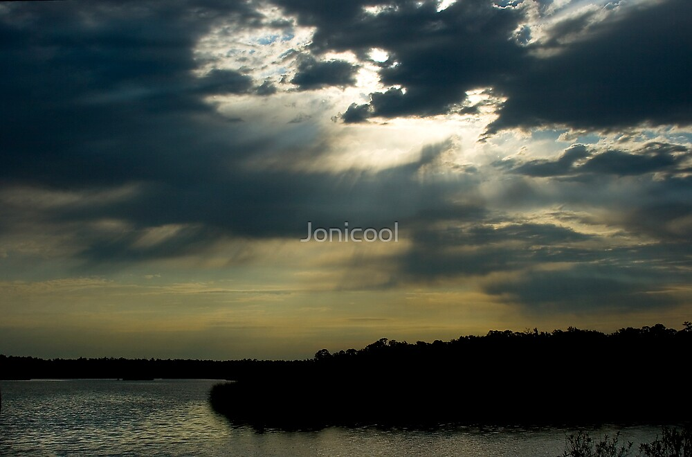 Morning Rays over Fort Bayou by Jonicool
