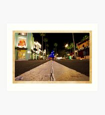 Road to Hollywood Art Print