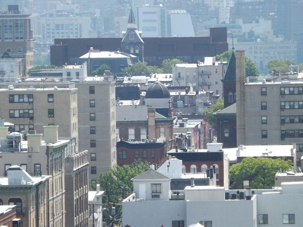 Aerial View, Hoboken, New Jersey, Manhattan Skyline by lenspiro