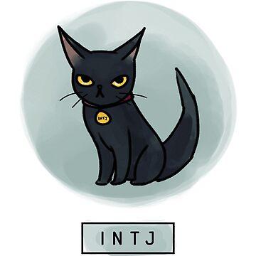 MBTI Cats: INTJ by eilamona