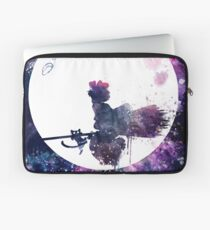 Little Witch Flying Over Moon Laptop Sleeve