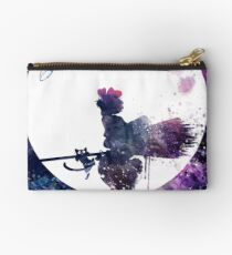 Little Witch Flying Over Moon Studio Pouch