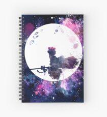 Cuaderno de espiral Pequeña bruja volando sobre la luna