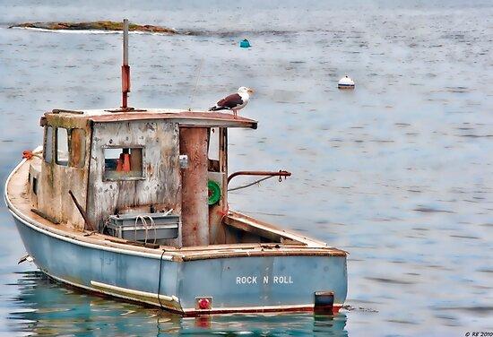 Gull & Boat by Richard Bean