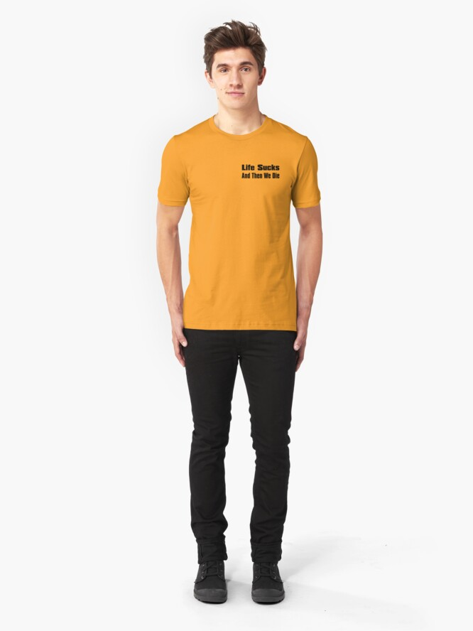 Alternate view of A Bit of Optimism #1 (Small Text) Slim Fit T-Shirt