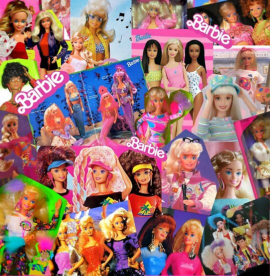 80 s barbie posters by lunaralpaca redbubble