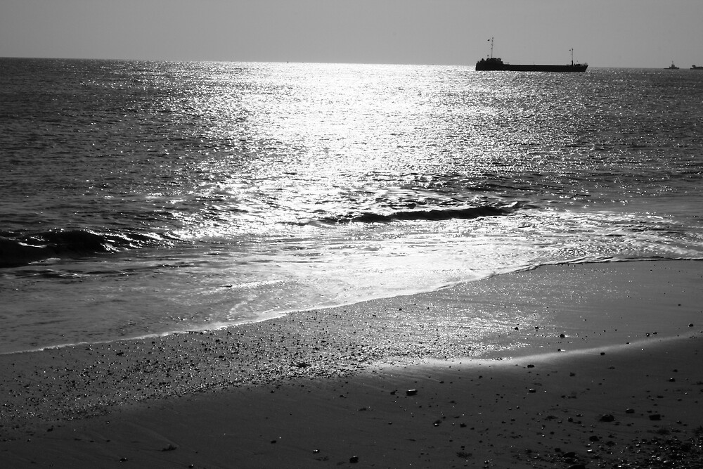 Great Yarmouth beach april by Robert Deaton