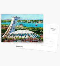 MONTREAL OLYMPISCHE STADION MONTREAL SKYLINE GEMÄLDE Postkarten